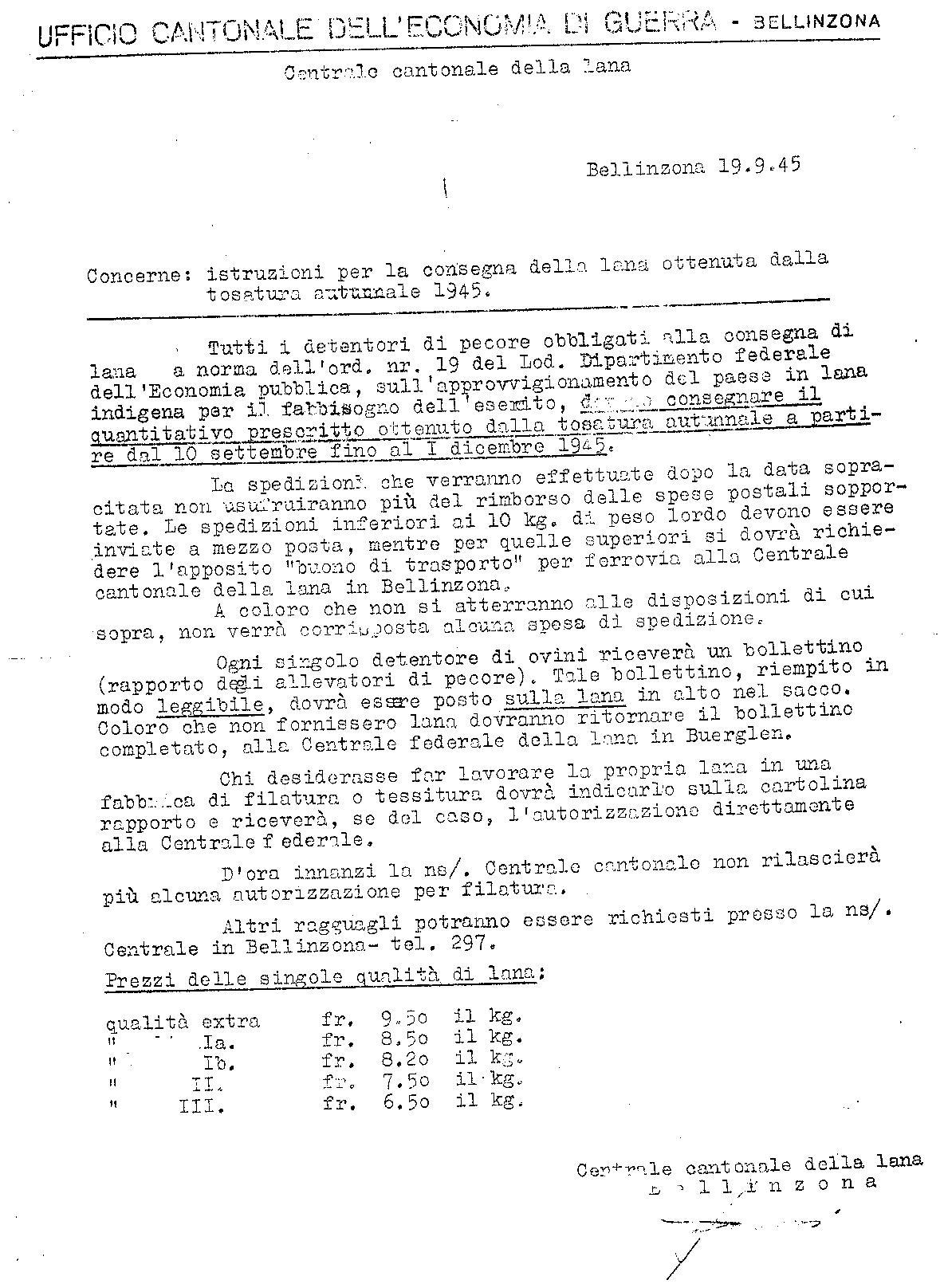 Economia di Guerra- lana -1945 - Copia
